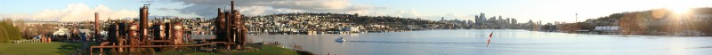 Gas Works Park, Lake Union, Downtown Seattle Panorama