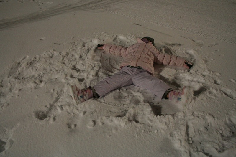 Allie Making a Snow Angel