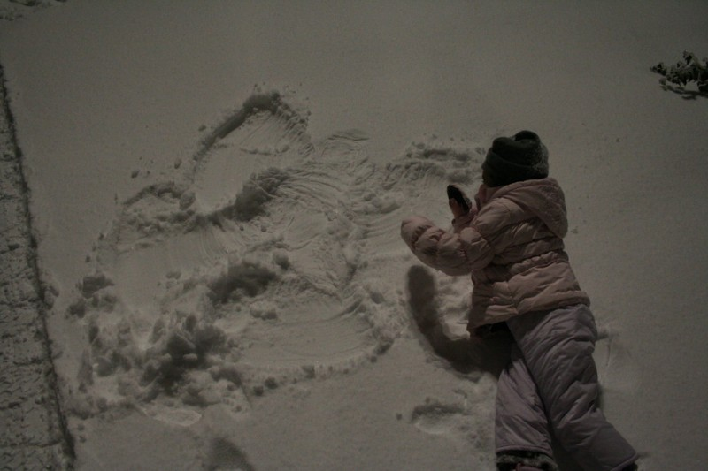 Allie Showing off her Snow Angel