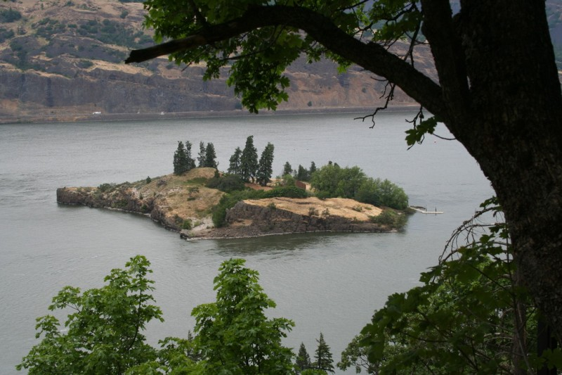 Island with House and Dock