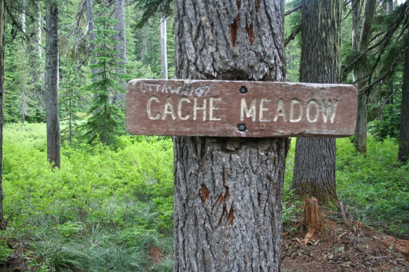 Cache Meadow Sign