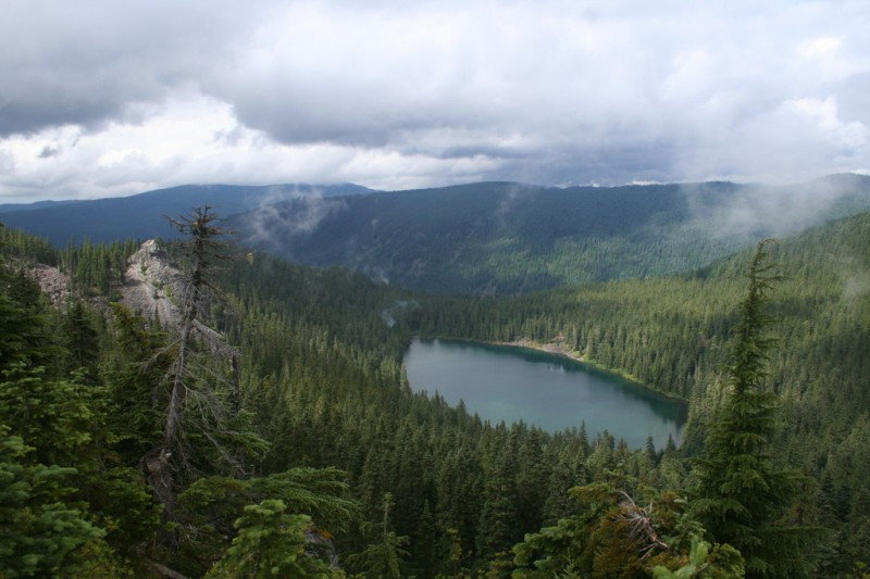 View of Serene Lake from the viewpoint where we had lunch