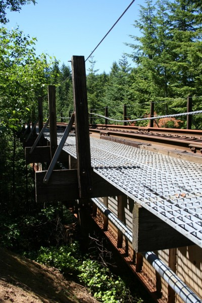 Vertical view of the first trestle from the near end