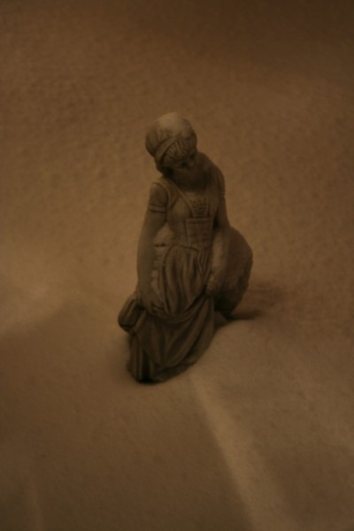 The Statue on the Top of a Fountain, Buried in Snow