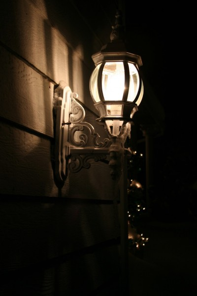 A Light on the Side of Our House