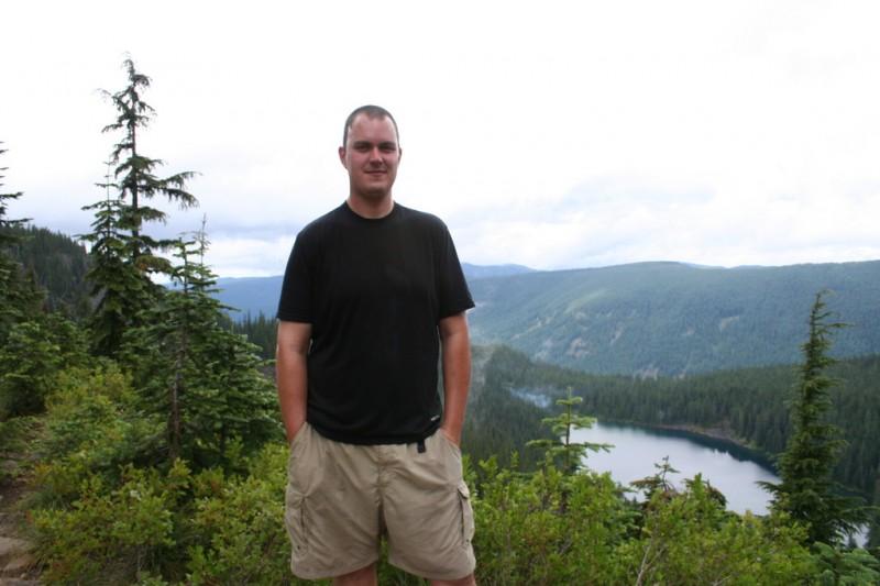 David and the view of Serene Lake