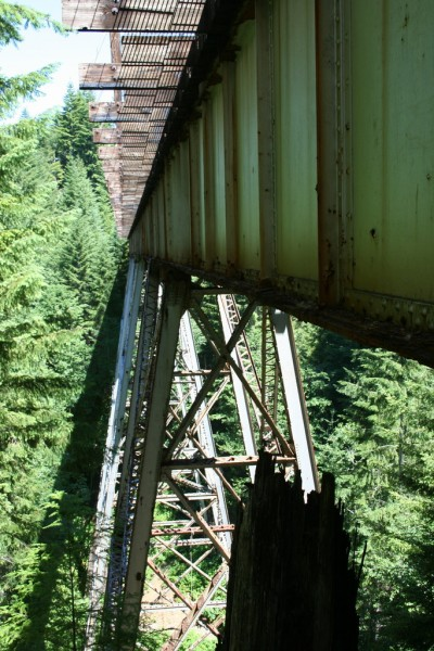 View from the far side of the trestle, from beside and below it