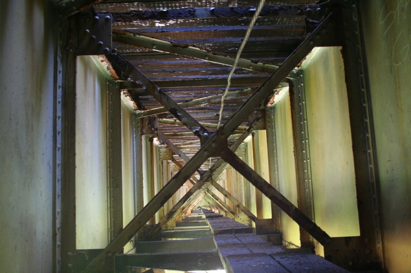 View of the inside of the trestle