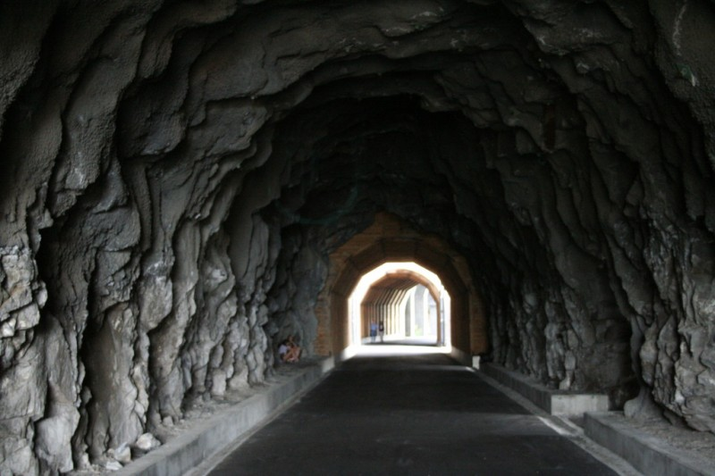 Inside of the Second Tunnel Looking West