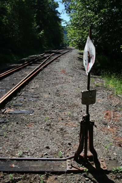 The switch, sign and tracks