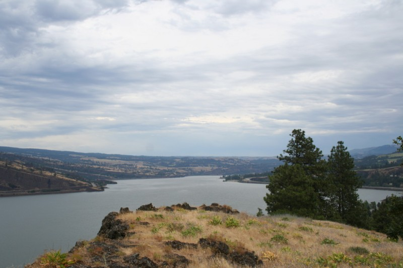View of the Columbia River Looking East From the Viewpoint