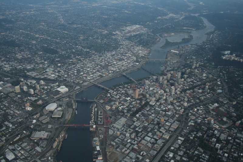The Willamette River and Portland's Bridges