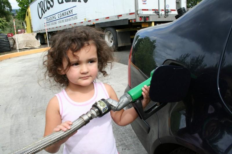 Allie Pumping Biodiesel