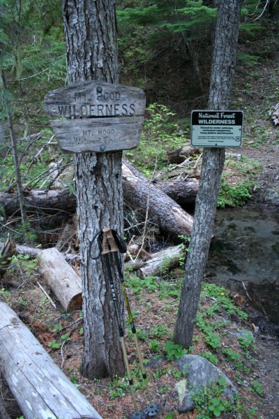 My Trekking Poles and the Wilderness Boundary Signs