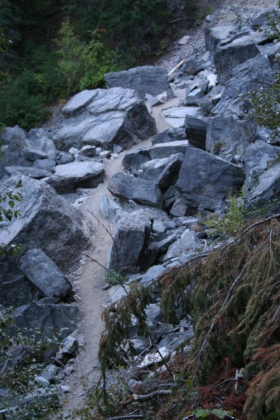 Path Through the Rocky Area