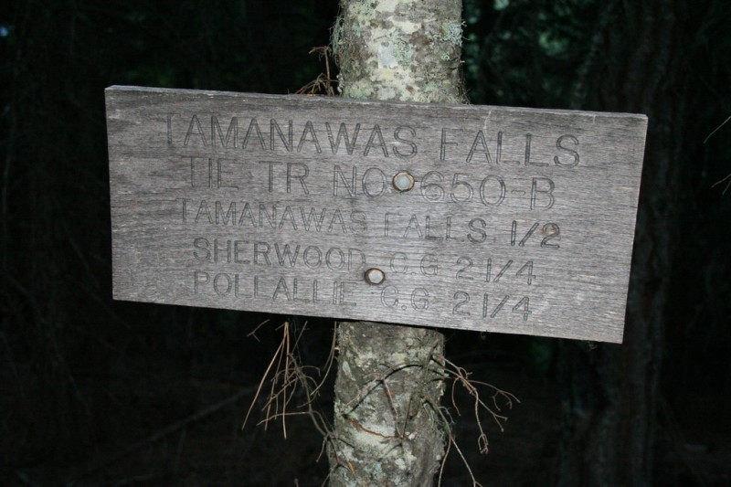 Tamanawas Falls Sign