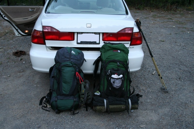 Sam's Car and Our Gear