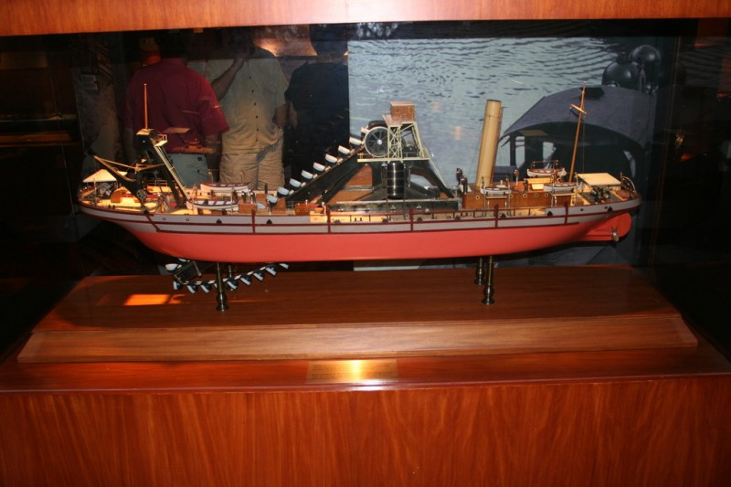 Model of a Dredging Ship in the Museum