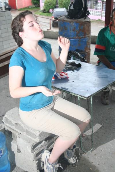 Stephanie Spitting Seeds