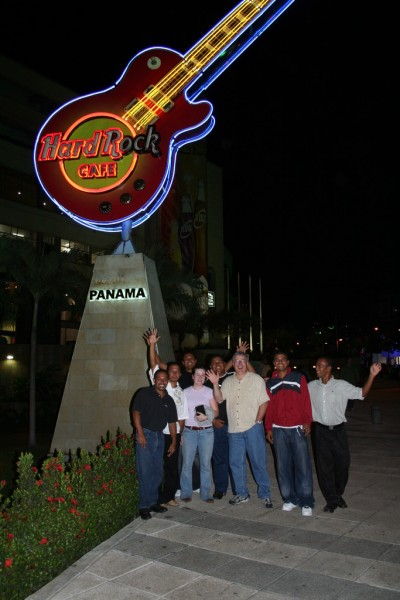 Bob, Stephanie and the Guys at Hard Rock Cafe