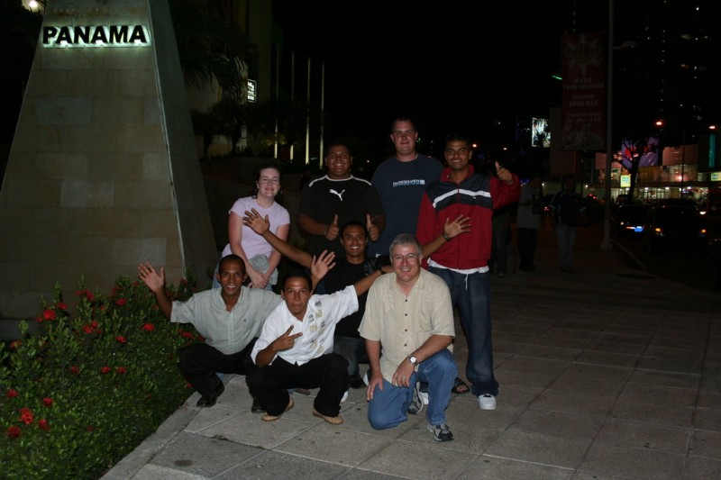Bob, Stephanie, Me and the Guys by the Hard Rock Cafe