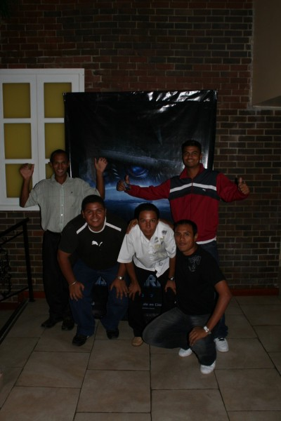 The Guys in Front of the Transformers Poster