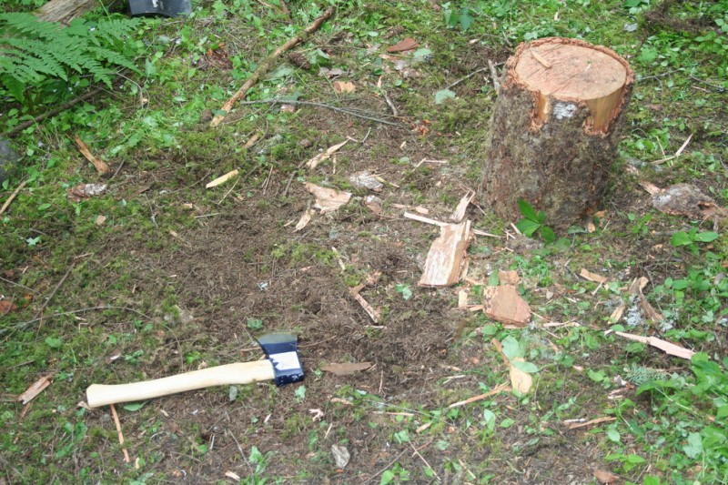 Shaun's Wood Chopping Area