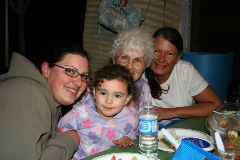 Tiffany, Allie, Grandma & Mom
