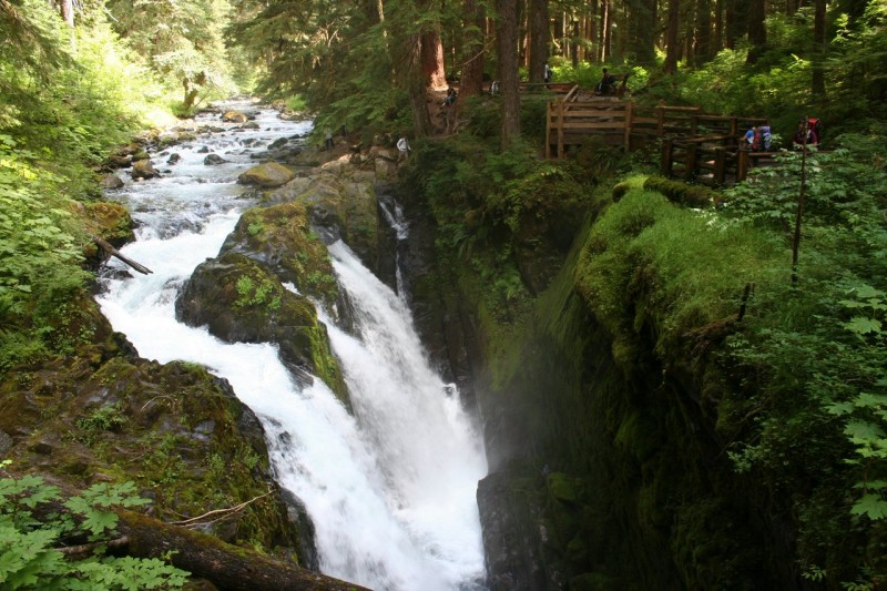 Sol Duc Falls from the bridge