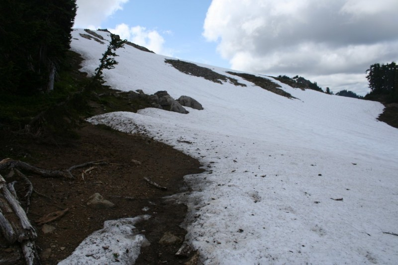 Snowfield on the High Divide Trail