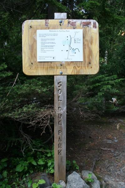 Sol Duc Park Campsite Sign